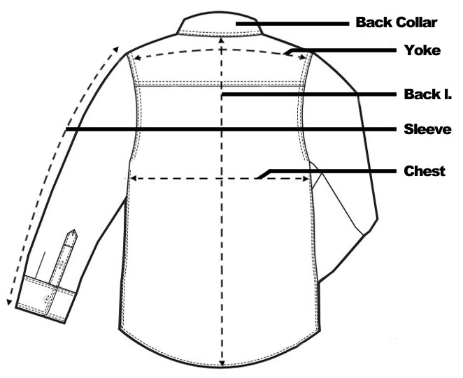 Anatomy of a shirt - front